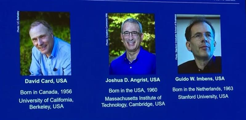 David Card, Joshua D. Angrist e Guido W. Imbens ficam com o Prémio Nobel das Ciências Económicas de 2021